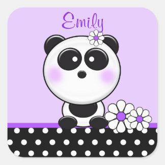Personalized Purple Panda Stickers
