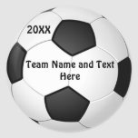 PERSONALIZED Soccer Ball Stickers NAME, YEAR, TEAM