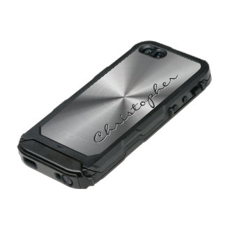 Personalized Stainless Steel Metallic Radial Look Incipio ATLAS ID™ iPhone 5 Case