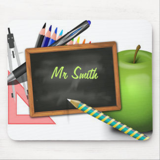 Personalized Teacher's Chalkboard Mouse Pad
