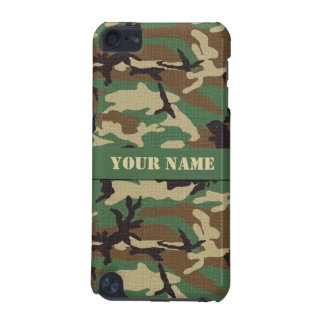 Personalized Woodland Camo iPod Touch 5G Case