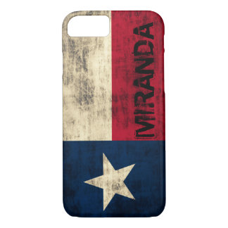 Personalzied Vintage Grunge Flag of Texas iPhone 7 Case