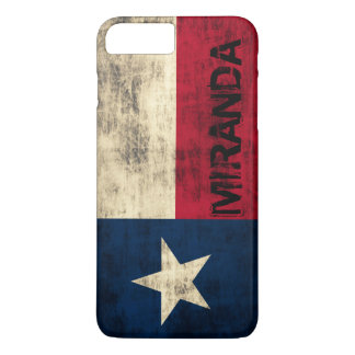 Personalzied Vintage Grunge Flag of Texas iPhone 7 Plus Case