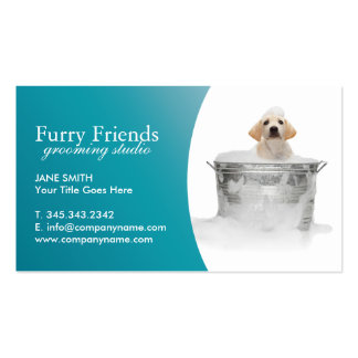 Pet Care Business Cards - Linen