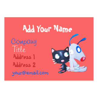 pet care, cat lover, dog lover pack of chubby business cards