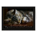 Pet Cat Sympathy Card, Loss Of Pet Greeting Card