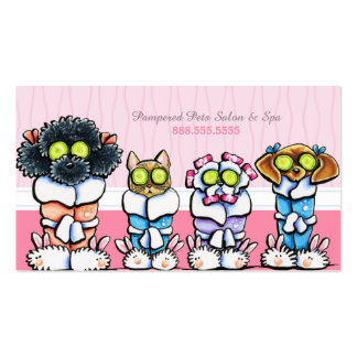 Pet Groomer Spa Dogs Cat Robes Discount Punch Pack Of Standard Business Cards
