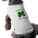 Pet Me I'm Irish Sleeveless Dog Shirt