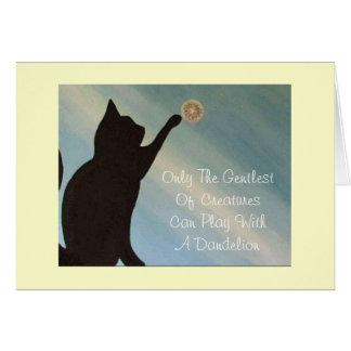 Pet Sympathy Card - Cat (Kinky Friedman quote)