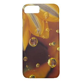 Petals on Mylar reflective surface with drops. iPhone 7 Case