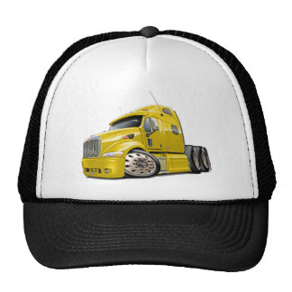 Peterbilt Yellow Truck Cap