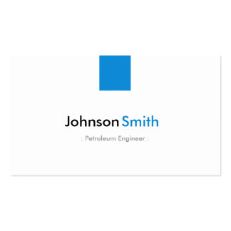 Petroleum Engineer - Simple Aqua Blue Pack Of Standard Business Cards