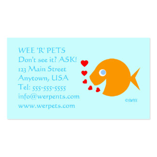 Pets Tropical Fish Shop Blue Eyes Goldfish Pack Of Standard Business Cards