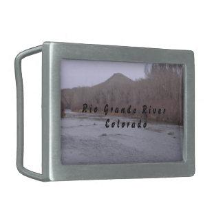 Pewter Rio Grande River Belt Buckle