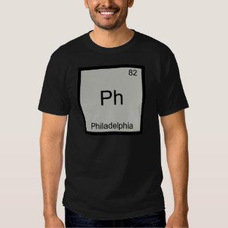 Ph - Philadelphia City Chemistry Element Symbol T T-shirts