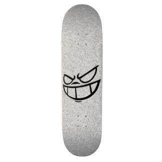 Phantom Smile™ Black & TV Static Skateboard Deck
