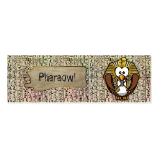 Pharaowls papershop pack of skinny business cards