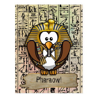 Pharaowls papershop postcard