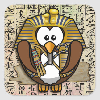 Pharaowls papershop square sticker