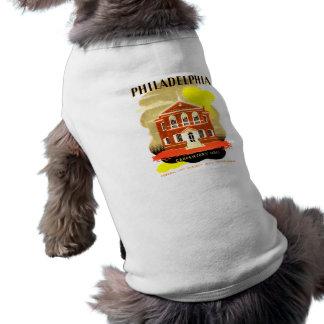 Philadelphia Pa. Carpenters Hall, WPA 1936 Tshirts Sleeveless Dog Shirt