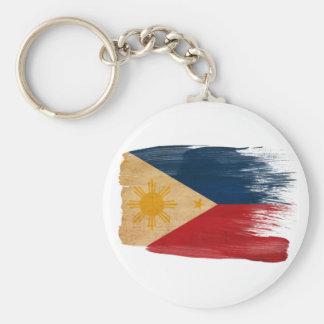 Philippines Flag Basic Round Button Key Ring