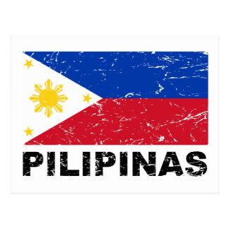 Philippines Flag Vintage Postcard