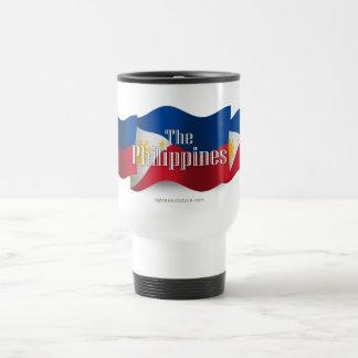 Philippines Waving Flag Stainless Steel Travel Mug