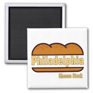 Philly Cheese Steak Square Magnet