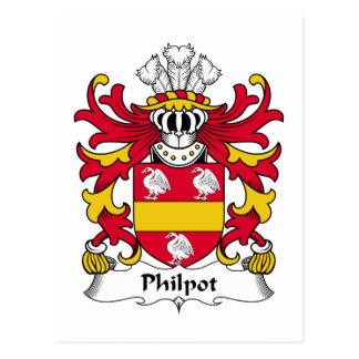 Philpot Family Crest Postcard
