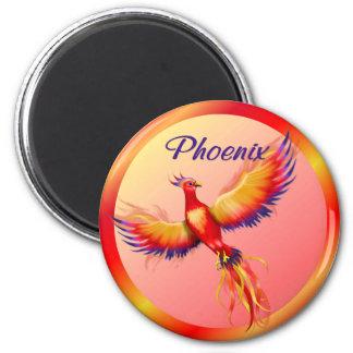 Phoenix Rising 6 Cm Round Magnet