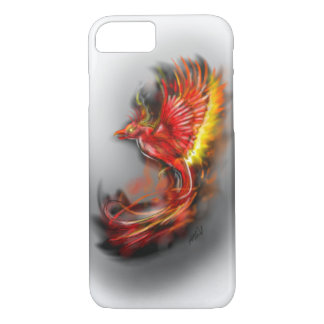 phoenix rising from the ashes, rebirth fire birds iPhone 7 case