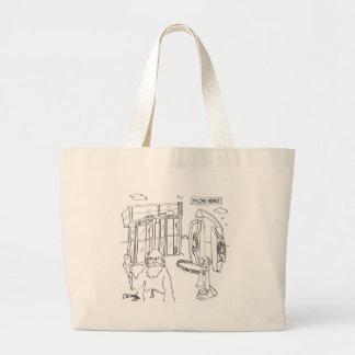 Phone Cartoon 9318 Jumbo Tote Bag