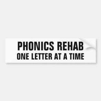 Phonics rehab bumper sticker