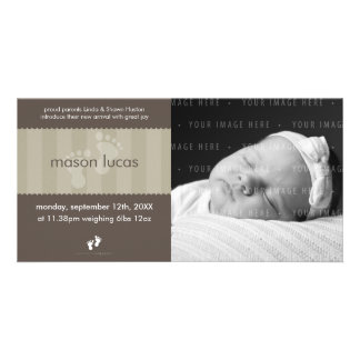 PHOTO BABY ANNOUNCEMENT :: happy feet 8L Photo Cards