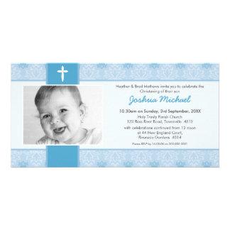 PHOTO BAPTISM INVITATIONS :: pretty 1L Picture Card