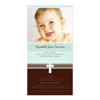 PHOTO BAPTISM INVITATIONS :: pure 3 Photo Card Template