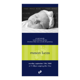 PHOTO BIRTH ANNOUNCEMENT :: happy feet 12P Personalised Photo Card