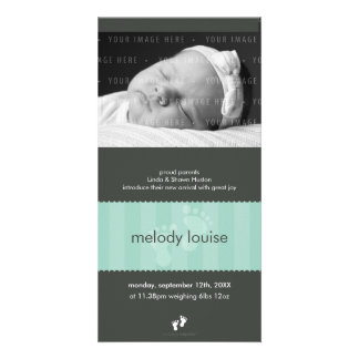 PHOTO BIRTH ANNOUNCEMENT :: happy feet 2P Photo Card Template