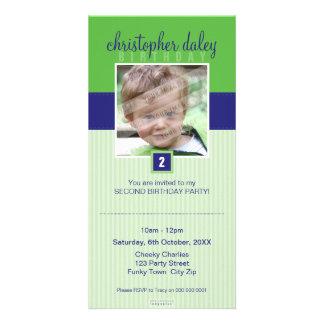 PHOTO BIRTHDAY INVITATIONS :: lovely square 1 Photo Cards