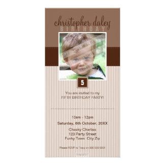 PHOTO BIRTHDAY INVITATIONS :: lovely square 7 Custom Photo Card