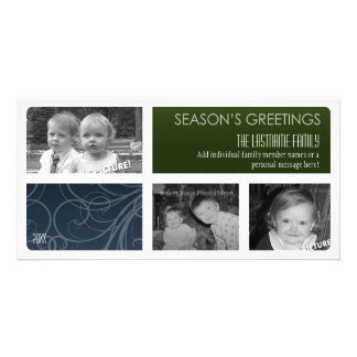 Photo Card: Boxes and Borders Personalized Photo Card