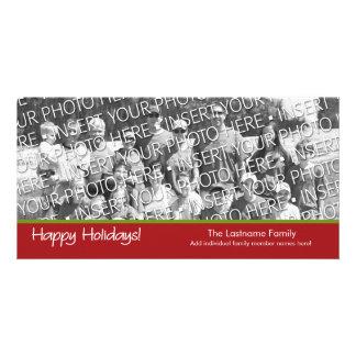 Photo Card: Happy Holidays with 1 large photo Photo Card
