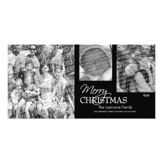 Photo Card: Merry Christmas black & white Picture Card