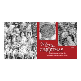 Photo Card: Merry Christmas Simply Red Custom Photo Card