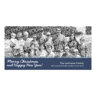 Photo Card: Merry Christmas with 1 large photo Personalised Photo Card