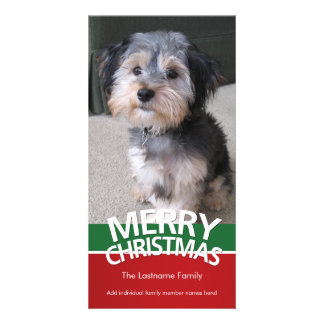 Photo Card: Merry Christmas with 1 large photo Photo Cards