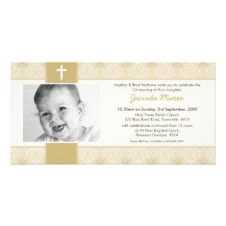 PHOTO CHRISTENING INVITATIONS :: pretty 3L Photo Card