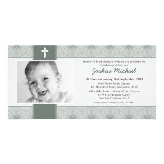 PHOTO CHRISTENING INVITATIONS :: pretty 7L Photo Cards