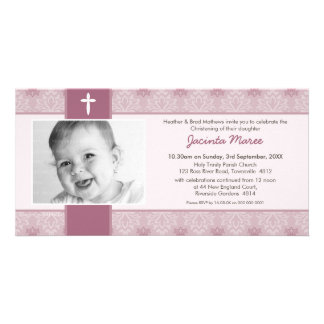 PHOTO CHRISTENING INVITATIONS :: pretty 9L Personalized Photo Card