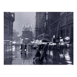 Photograph: 1940s NYC in the Rain Postcard